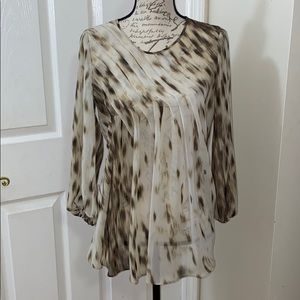 Kenneth Cole Sheer Blouse